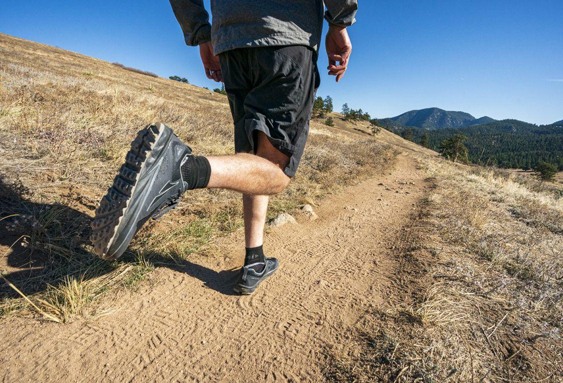 man running in high desert